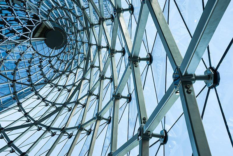 modern buildings glazing