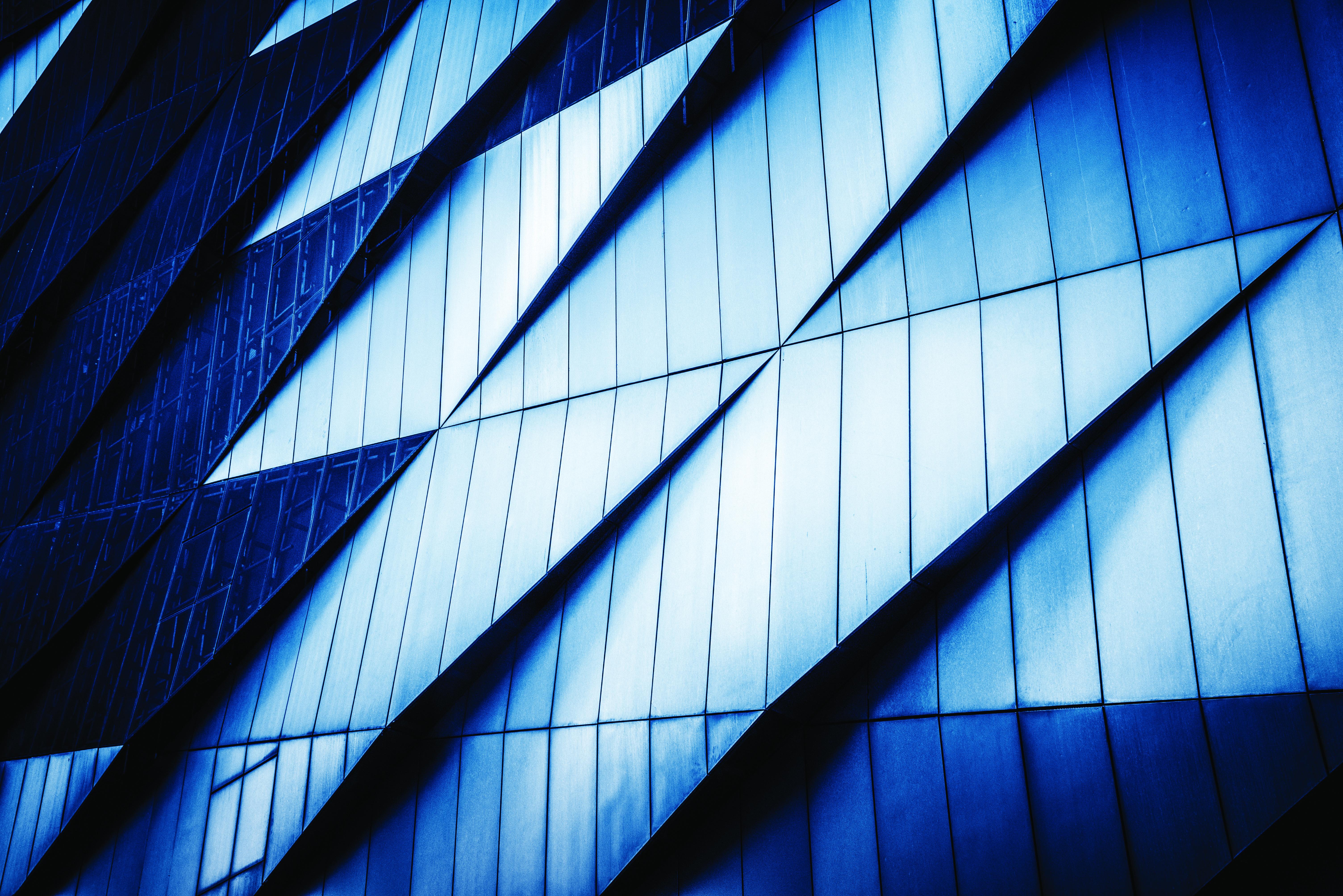 exterior view of building windows